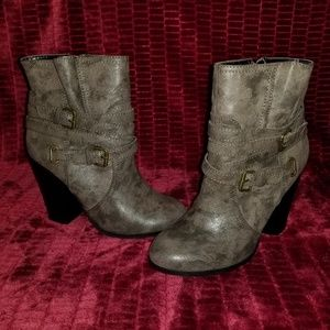 Gisele Bootie Heels - Brown